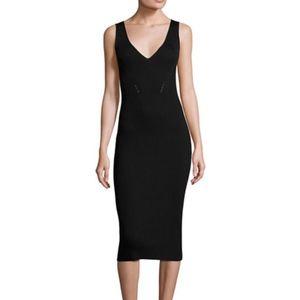 Michael Kors Sleeveless V-Neck Ribbed Dress